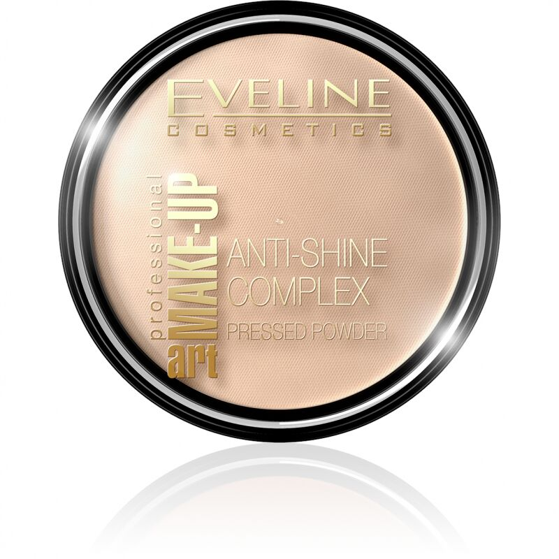 EVELINE - Art Make-Up - Anti-Shine Complex Pressed Powder - Puder mineralny z jedwabiem - 31 TRANSPARENT