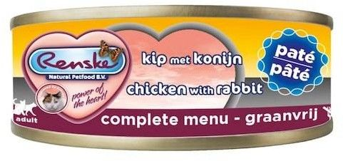 Renske fresh meat chicken & rabbit pate 70g