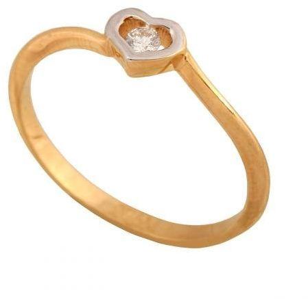 Złoty pierścionek młodzieżowy Pi056