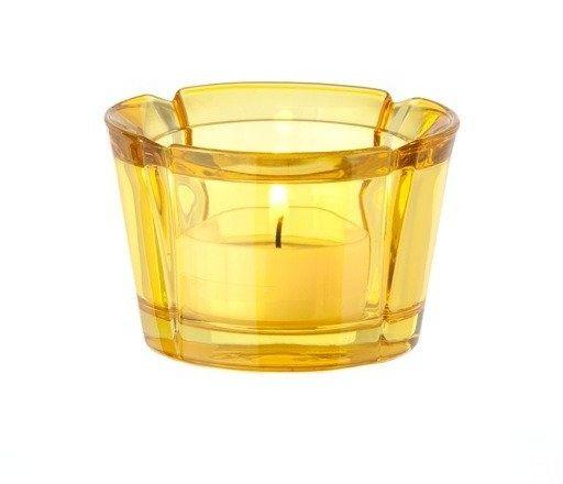 Rosendahl - szklany świecznik, żółty