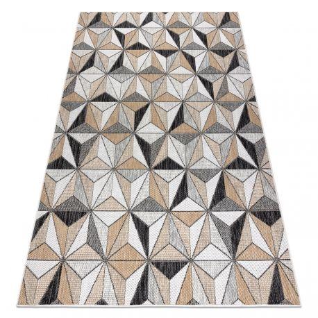 Dywan SZNURKOWY SIZAL COOPER Mozaika, Trójkąty 22222 ecru / czarny 80x150 cm