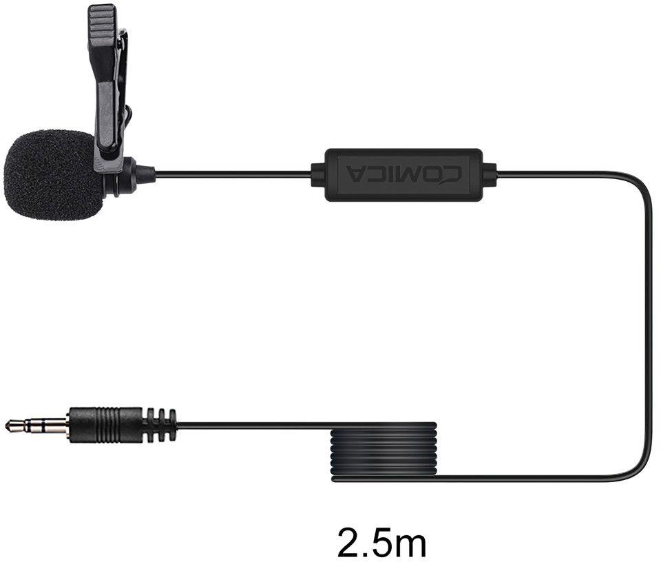 Mikrofon krawatowy Comica CVM-V01CP 2,5m