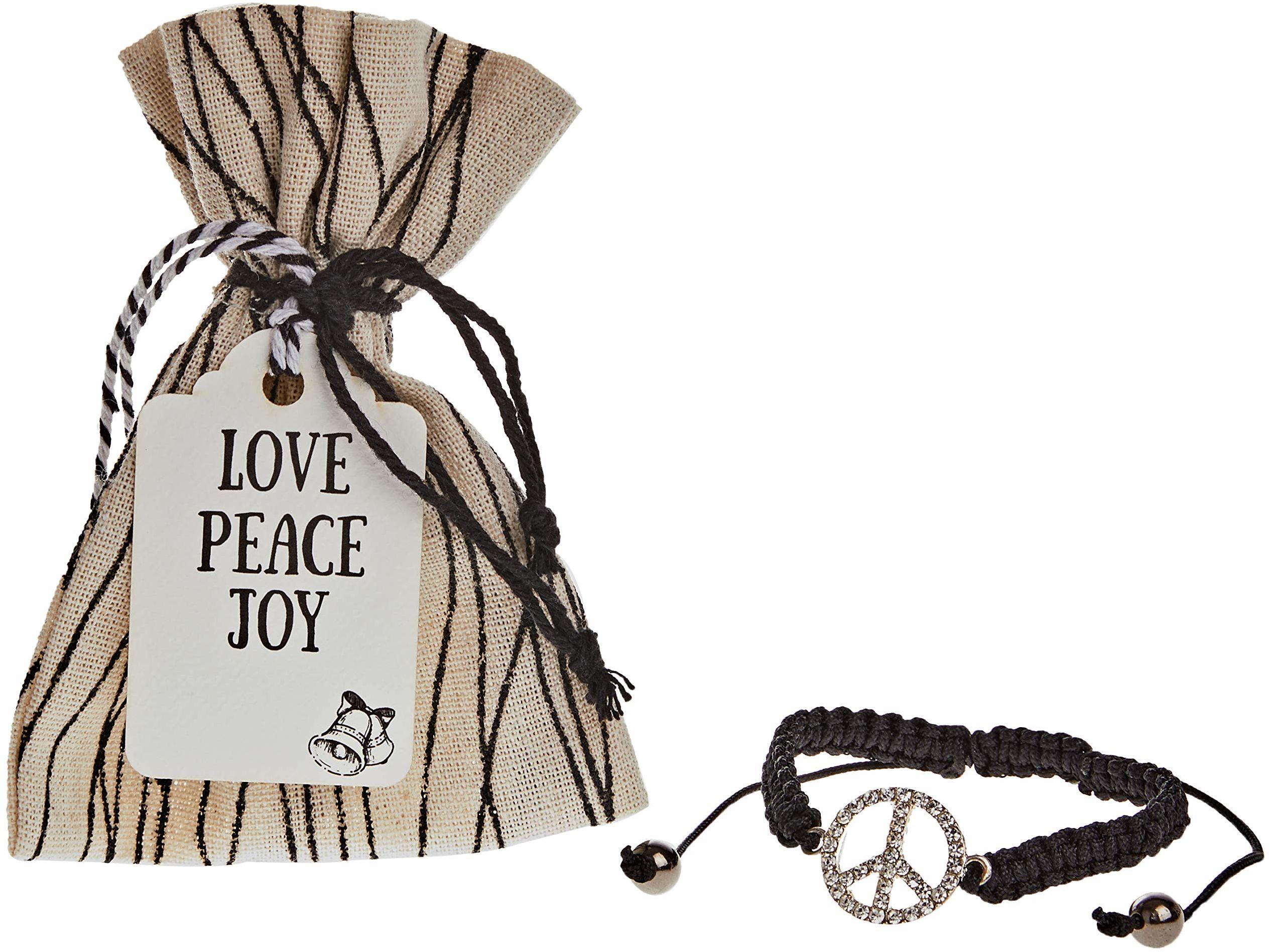 Mopec NK274 bransoletka symbol pokoju w torebce linie z kartką bożonarodzeniową materiał, wielokolorowa, rozmiar uniwersalny