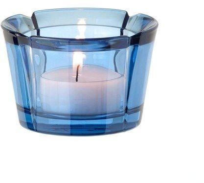 Rosendahl - szklany świecznik, granatowy