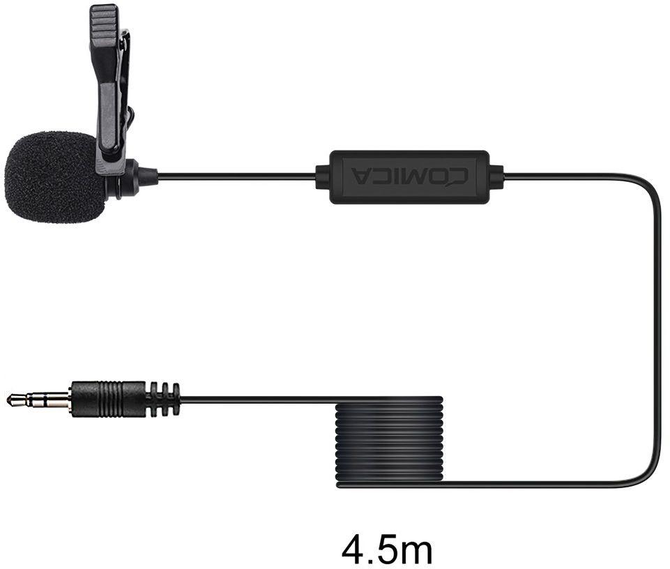 Mikrofon krawatowy Comica CVM-V01CP 4,5m