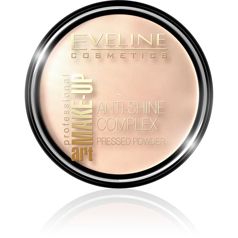 Eveline Cosmetics - Art Make-Up - Anti-Shine Complex Pressed Powder - Puder mineralny z jedwabiem - 32 NATURAL