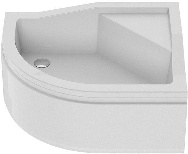 New Trendy Brodzik MAXIMA , prawy, podwyższone siedzisko 100 x 80 x 38,5cm B-0368