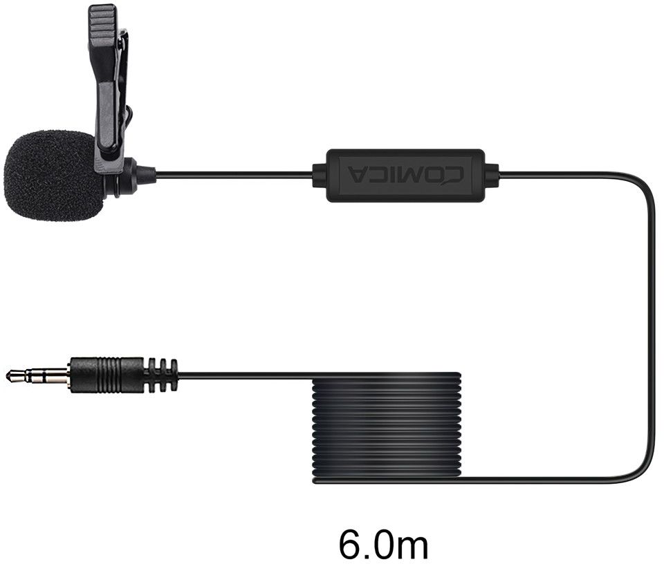 Mikrofon krawatowy Comica CVM-V01CP 6m