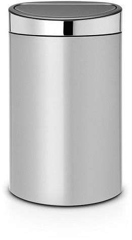 Kosz TOUCH BIN NEW 40L Metallic Grey /Brilliant Steel