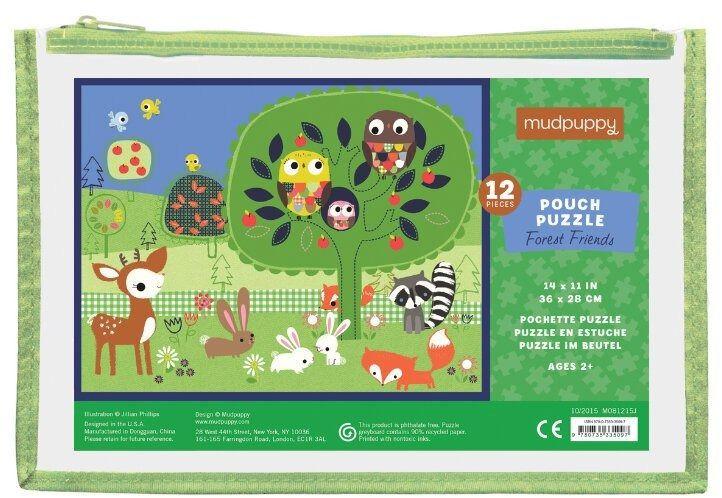 Moje pierwsze puzzle - 12 elementów - Leśni przyjaciele