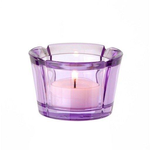 Rosendahl - szklany świecznik, liliowy