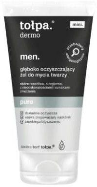 Tołpa Dermo Men Pure Mini Żel do mycia twarzy głęboko oczyszczający 75ml