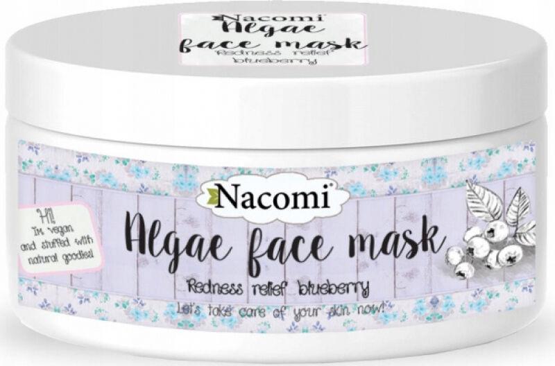 Nacomi - Algae Face Mask - Rozjaśniająca maska algowa do cery naczyniowej - Borówka