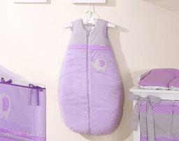 MAMO-TATO Śpiworek niemowlęcy haftowany Słonik fioletowy 86-110