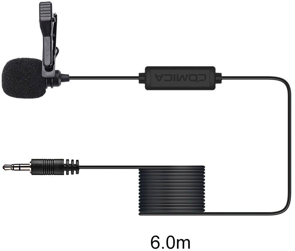 Mikrofon krawatowy do smartfonów Comica CVM-V01SP 6m