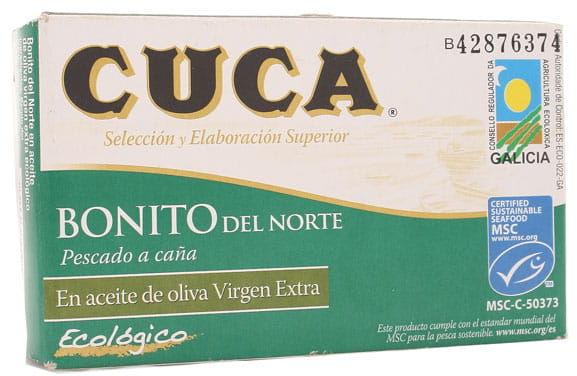 Tuńczyk biały Bonito w BIO oliwie z oliwek - Cuca - 112g