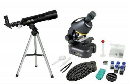 Zestaw Bresser National Geographic: teleskop 50/360 AZ i mikroskop 40x 640x