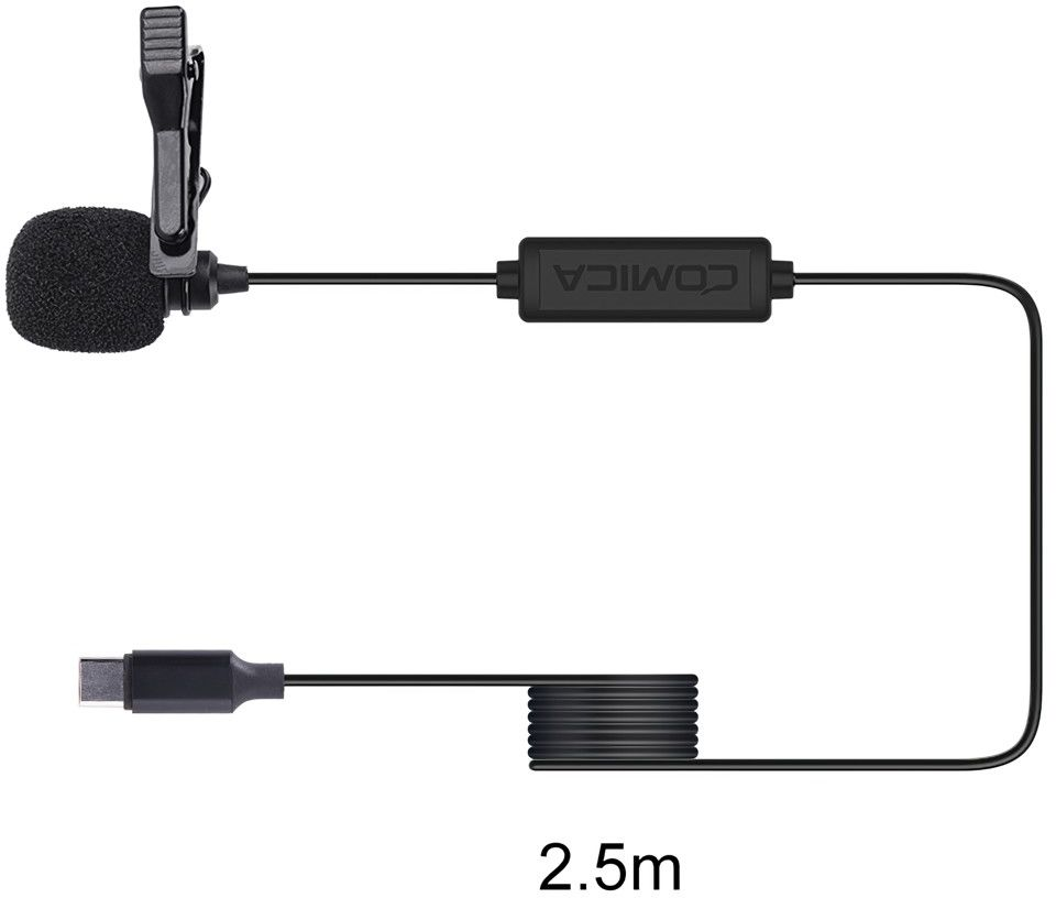 Mikrofon krawatowy do smartfonów (USB-C) Comica CVM-V01SP(UC) 2,5m