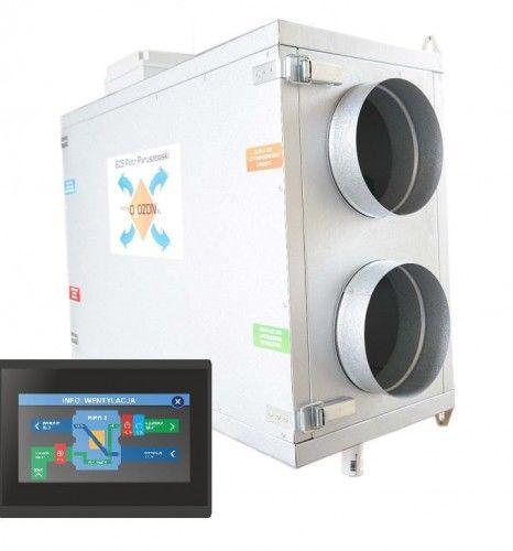 Centrala wentylacyjna 420m3/h jon16 Rekuperator + Jonizator + Sterownik, Przeciwprądowy