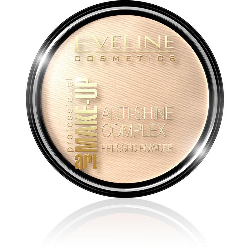 Eveline Cosmetics - Art Make-Up - Anti-Shine Complex Pressed Powder - Puder mineralny z jedwabiem - 33 GOLDEN SAND