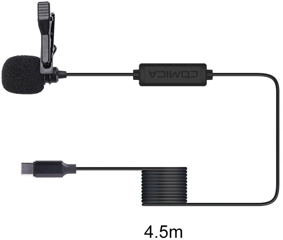 Mikrofon krawatowy do smartfonów (USB-C) Comica CVM-V01SP(UC) 4,5m