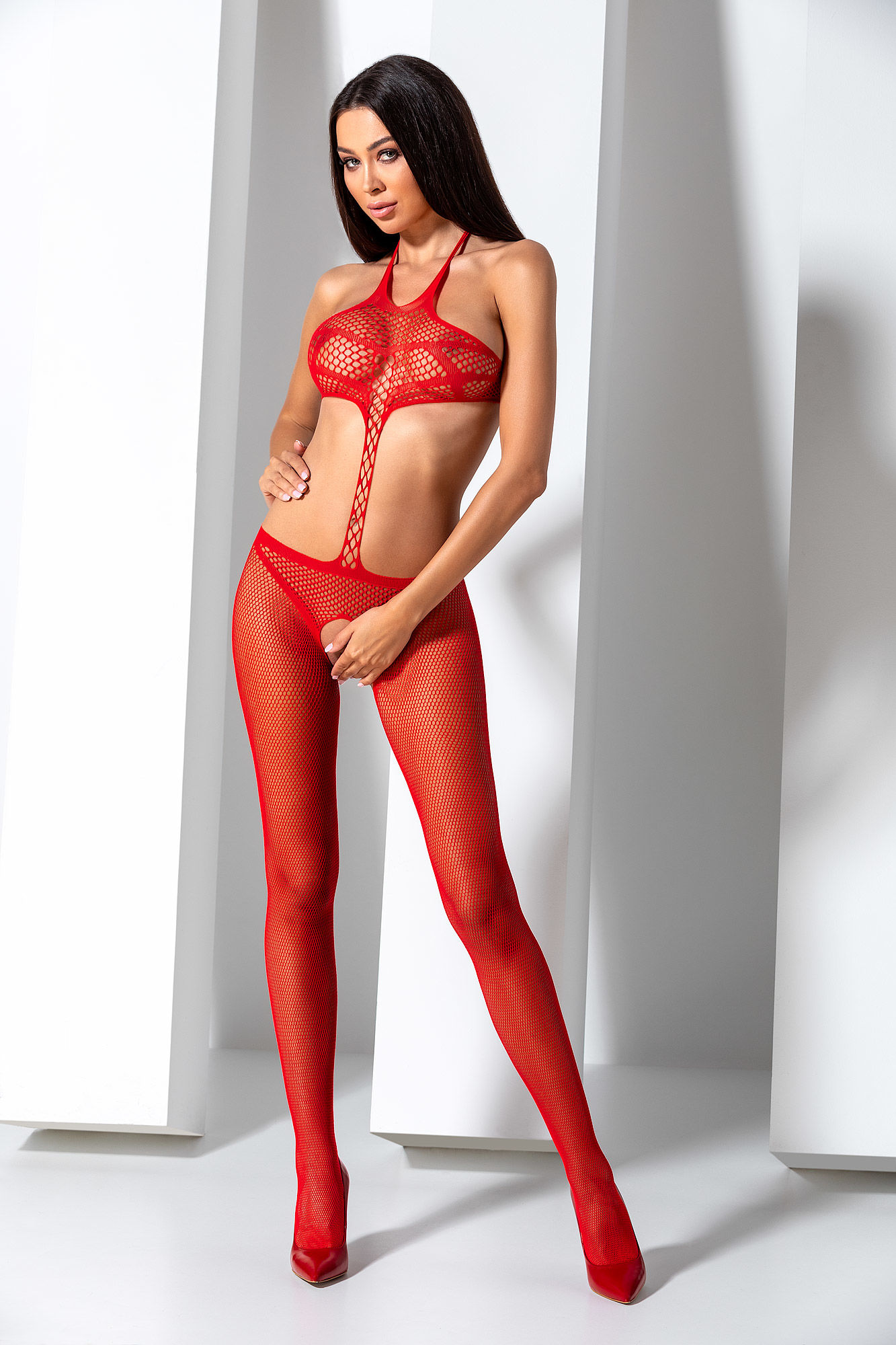 Passion Bodystocking BS080 Red