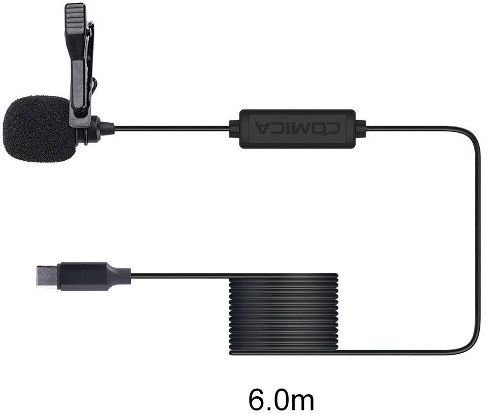 Mikrofon krawatowy do smartfonów (USB-C) Comica CVM-V01SP(UC) 6m