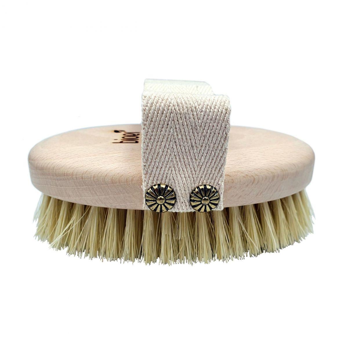 Szczotka do masażu ciała na sucho/mokro - naturalne włókno kaktusa agawy - Bioer