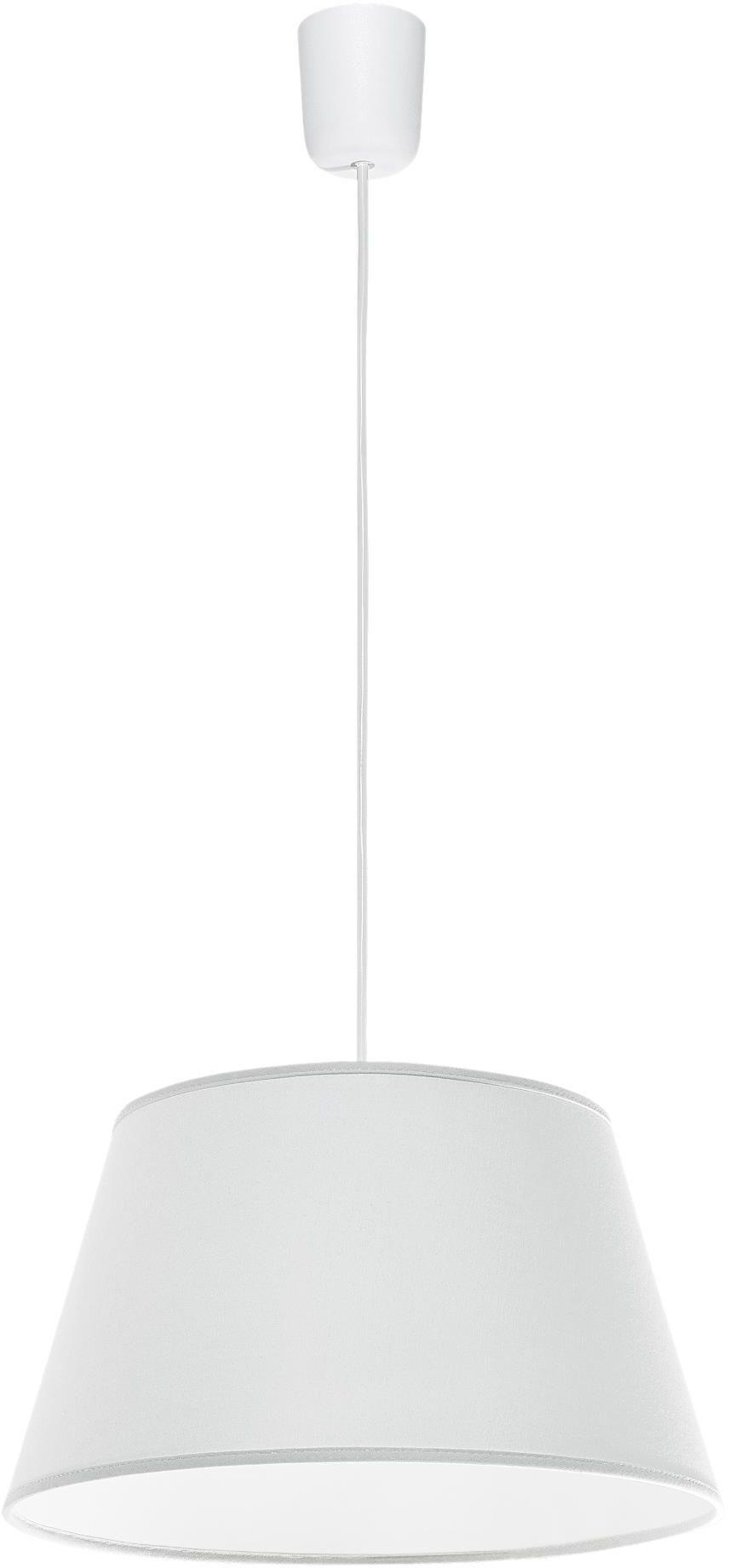 Lampex Kegle biała 410/BIA lampa wisząca nowoczesna biała z trapezowatym abażurem 1x60W E27 35cm