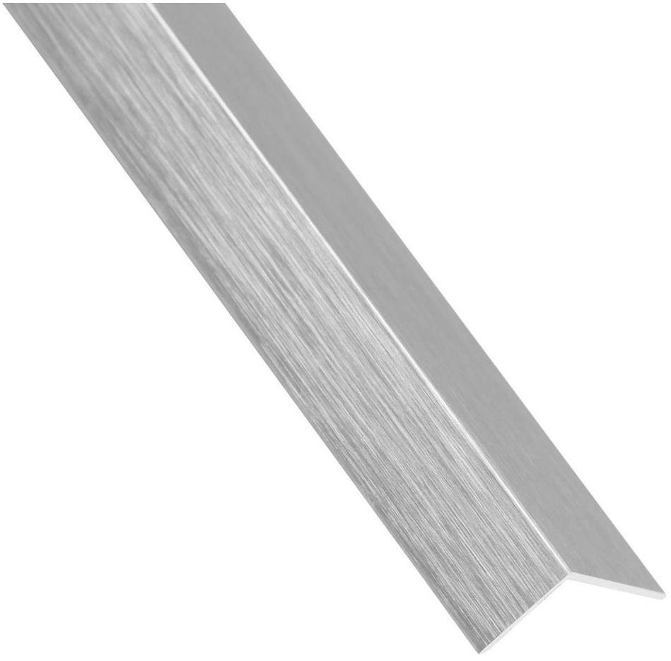Kątownik aluminiowy 1 m x 11 x 11 mm srebrny szczotkowany STANDERS