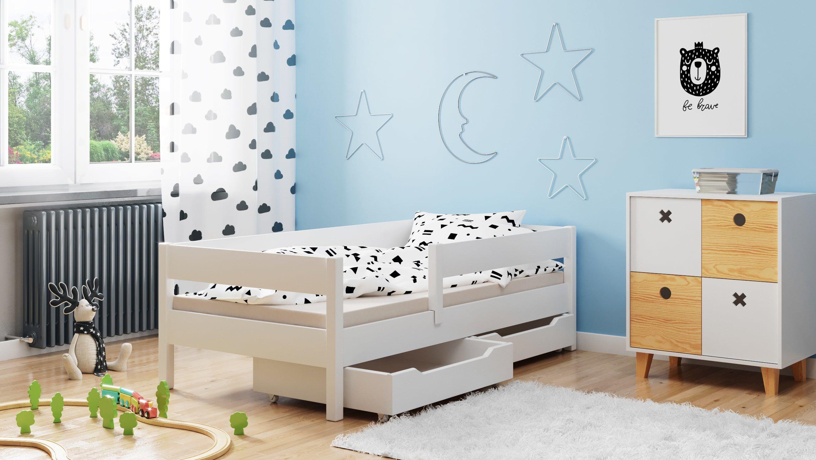 Łóżko dla dzieci pojedyncze Miki
