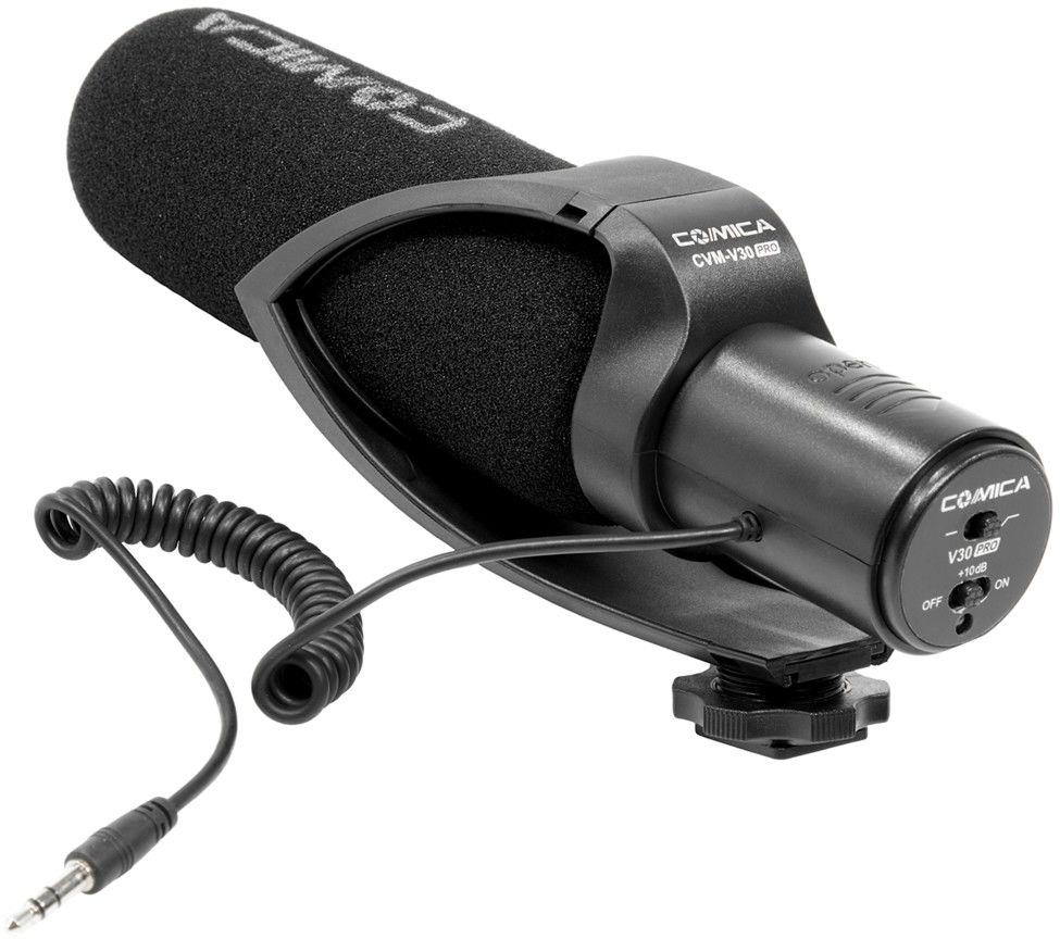 Mikrofon superkardioidalny typu shotgun Comica CVM-V30 PRO B