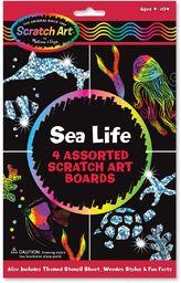 Melissa & Doug Arkusze do zdrapywania - Życie morskie Sztuka i rzemiosło zdrapka 4+ Prezent dla chłopca lub dziewczyny