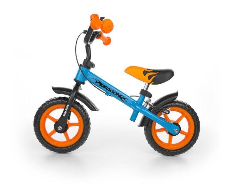 Milly Mally Dragon rowerek biegowy + hamulec blue-orange