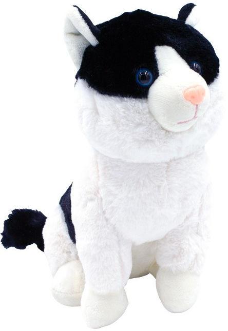 Maskotka Kotek Mruczuś czarno-biały 27cm