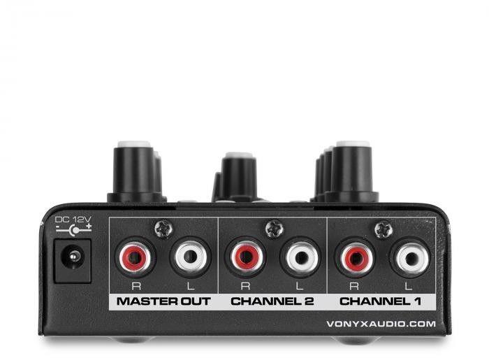 Vonyx STM500BT mikser DJ 2-kanałowy Bluetooth odtwarzacz MP3 port USB czarny