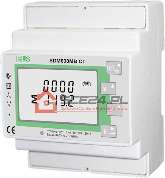 WSKAŹNIK ENERGII SDM 630MB CT 1/3-fazowy do przekładników 1/5A CT RS485