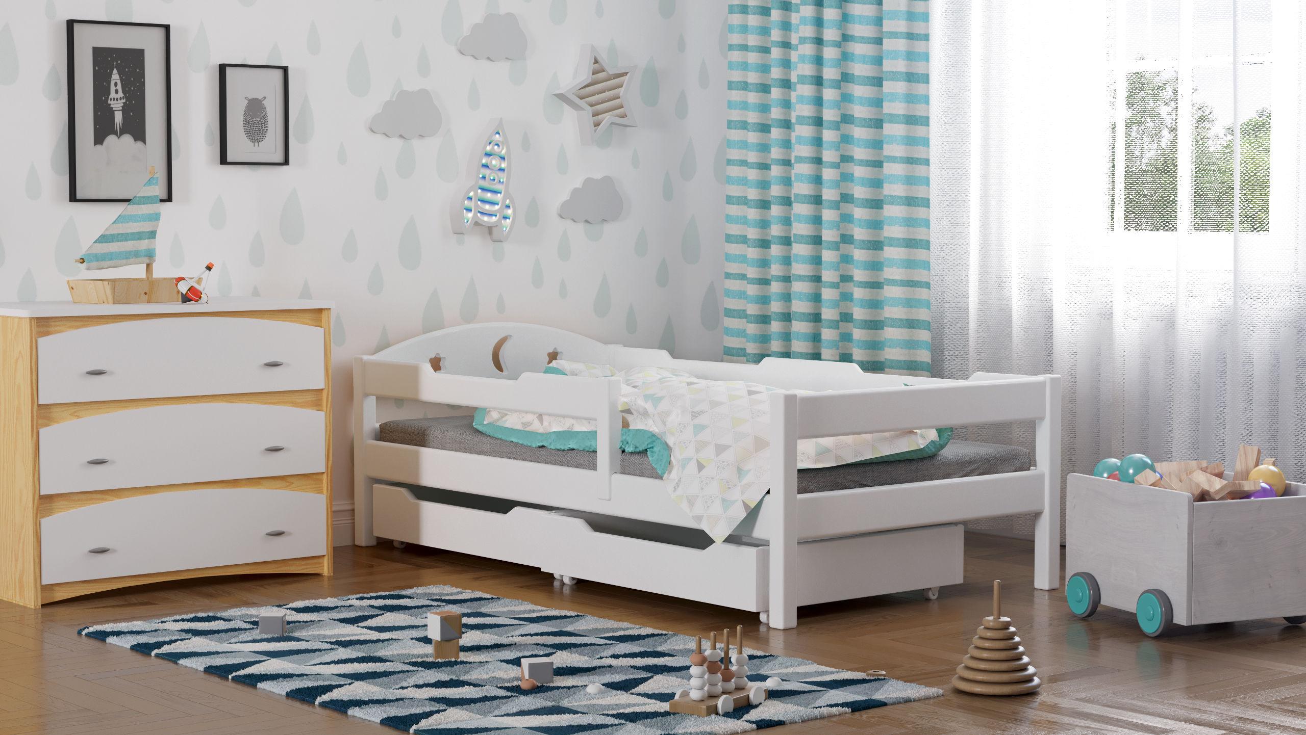 Łóżko dla dzieci pojedyncze Oliwka