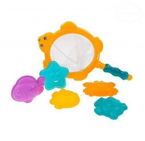 Sitko z zabawkami kąpielowymi AKUKU