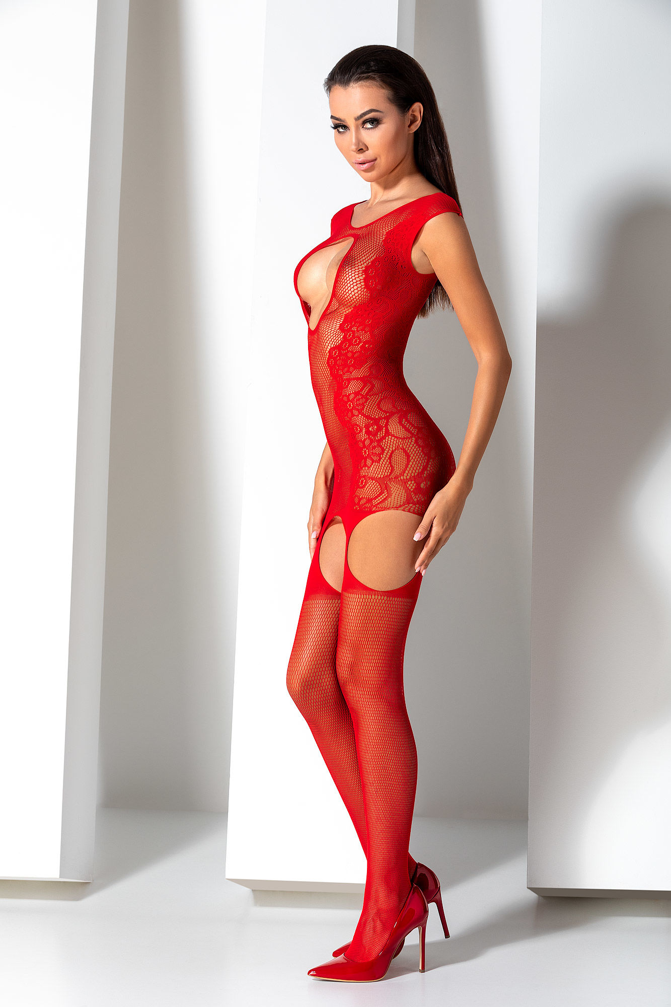 Passion Bodystocking BS082 Red