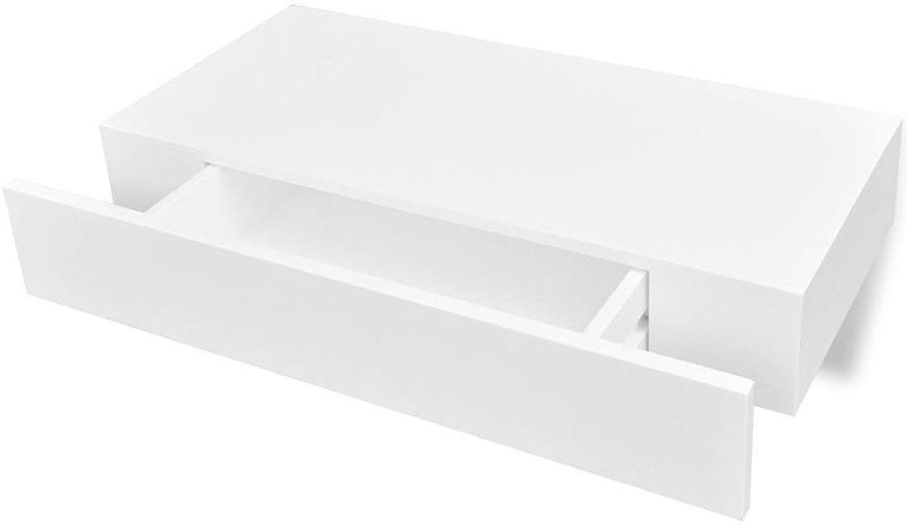 Zestaw półek ściennych z szufladami Pilon - biały