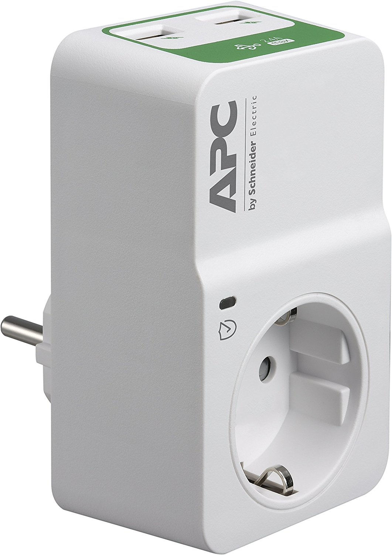 APC Essential SurgeArrest 1 Outlet 230V, 2 Port USB Charger, Germany