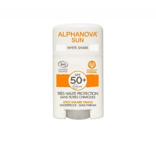 Alphanova Sun Krem z filtrem w sztyfcie SPF50+ White Shark - 12 g