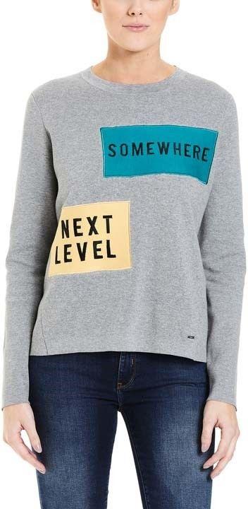 sweter BENCH - Jumper Badges Winter Grey Marl (MA1054)