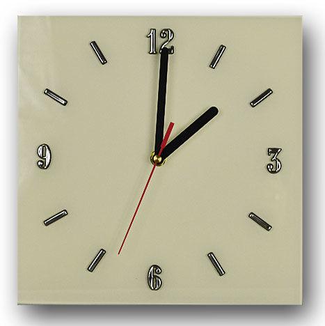 Szklany zegar ścienny Liptos 8R - 5 kolorów