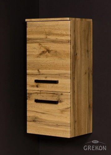 Regał łazienkowy loftowy kolor dębu 40x89cm, Gante Fokus Loft