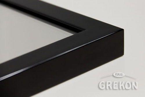 Lustro łazienkowe w czarnej ramie aluminiowej 100x65cm, Gante
