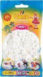 Hama Perlen 207-01 woreczek z koralikami do prasowania, ok. 1000 midi koraliki do majsterkowania o średnicy 5 mm w kolorze białym, kreatywna zabawa dla dużych i małych