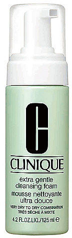 Clinique Extra Gentle Cleansing Foam delikatna pianka oczyszczająca do skóry suchej i bardzo suchej 125 ml + do każdego zamówienia upominek.