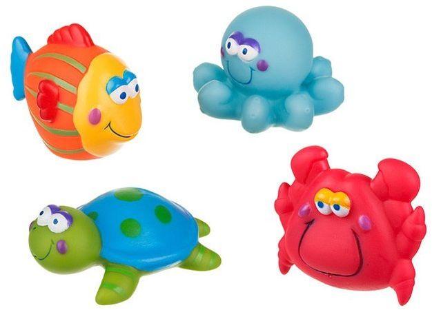 Zabawki do kąpieli 4 sztuki AKUKU